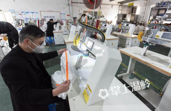 援助隔离服生产厂家,温岭市欧鹰机械有限公司紧急开工!(图3)